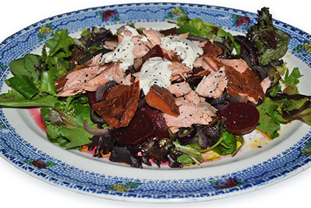 Smoked Salmon, Beetroot and Red Onion Salad