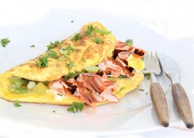 Salar Smoked Salmon Omelette