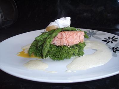 Smoked Salmon, warm salad, soft poached egg.